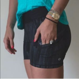 Lululemon Tight Stuff Double Pockets Shorts
